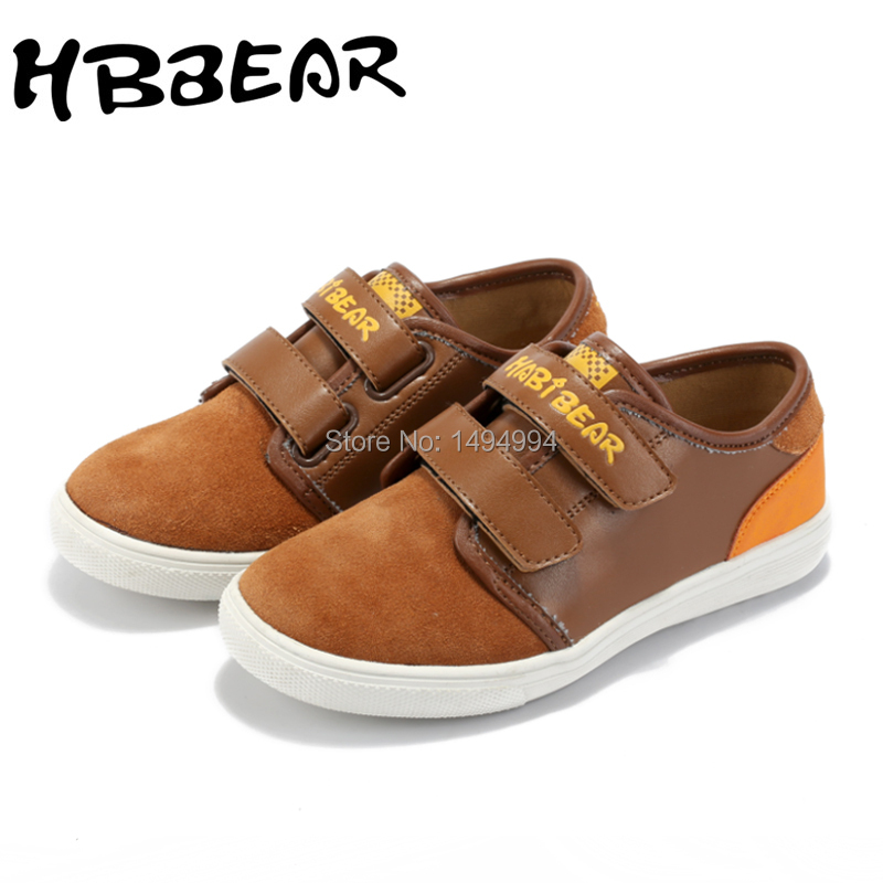 HOBIBEAR Suede Children Causal Shoes Hot Brown Green Dark Blue Soft Sole Kids Shoes Girl Flat Sneakers Boy Free Shipping A851