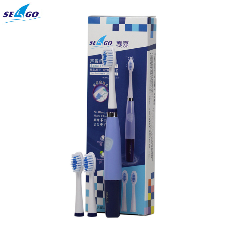 SEAGO sg-915 Battery Operated Sonic Electric Toothbrush Waterproof Battery models(China (Mainland))