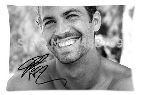 Vintage Paul Walker The Fast and the Furious Custom Soft Comfortable Rectangle Pillowcase Standard Size 20x30 Inch(China (Mainland))