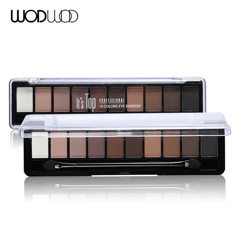 Wodwod Makeup Brand Earth Color Eyeshadow Palette Glitter Eye Palette Maquiagem Matte Pigment Eye Shadow(China (Mainland))