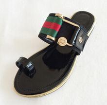 Fashion Bohemia Flip Flops Women Sandals 2015 Slipper Gold Rhinestone Flat Sandals For Women Shoes Summer Sandali Donna (China (Mainland))