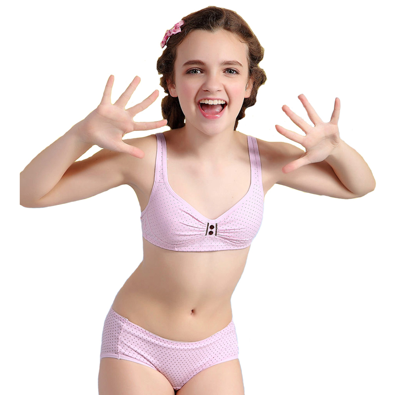 Wholesale Wofee 2015 Puberty Girls Cotton Bra And Pants ...
