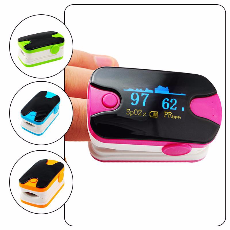 Health Care Partable OLED Display Fingertip Pulse Oximeter Blood Oxygen SPO2 Heart Rate PR Monitor Pulse Rate Monitor cheap