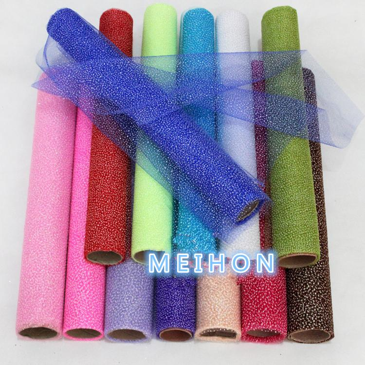 Party decoration snowflake organza roll for fresh flower wrapper and gift packaging / florist supplies and other materials(China (Mainland))