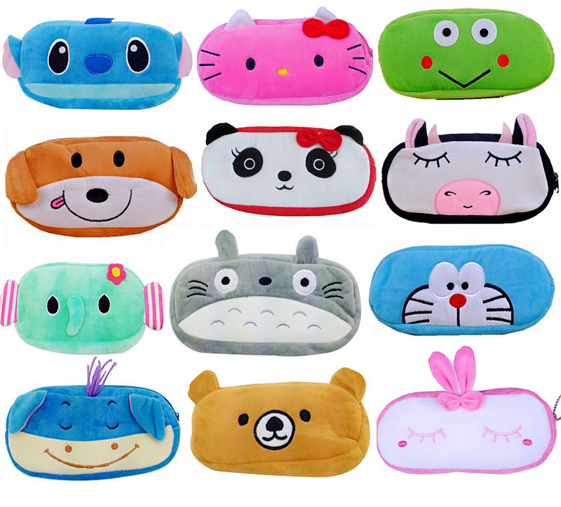 Гаджет  2015 Cartoon cute pencil case Kawaii Plush Large school pencil case for girls pencil box Animals pencilcase Stationery for Gift None Офисные и Школьные принадлежности