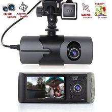 "Double Camera Car DVR Dashcam 2.7"" 1080P GPS Dual Len Car DVR Vehicle Camera Video Recorder Dash Cam Dashboard Portable Recorder(China (Mainland))"