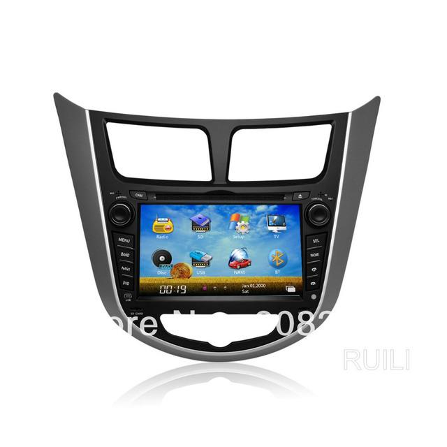 Hyundai Solaris Verna Car Stereo Audio  Radio Car DVD  2 Din 7 inch  Free Map Free SD  card