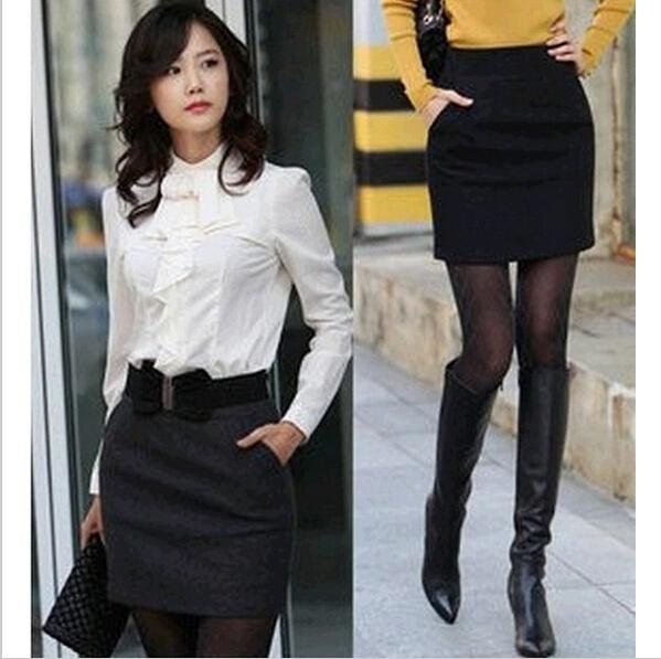 Business Attire Office Lady peplum Formal Pencil Cotton Skirt Plus size Skirts/Saias Women conjuntos femininos saia blusas(China (Mainland))