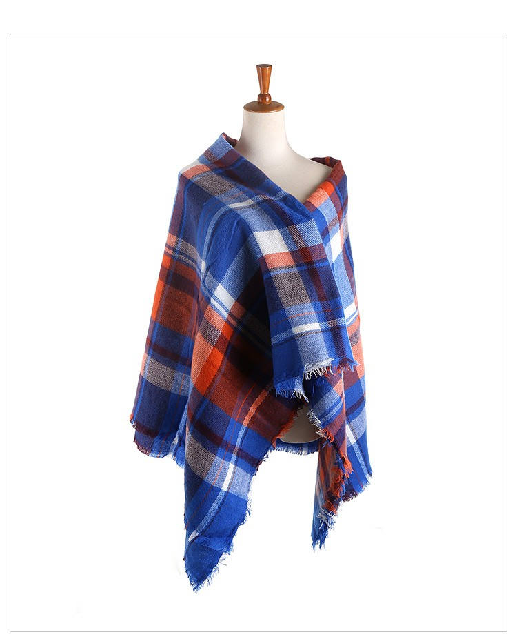 2015 New ZA Brand  Winter Women Scarves Soft Wool Plaid Scarf Big Square Pashmina Shawls Wrap Accessories Tassel Scarf 140*140cm