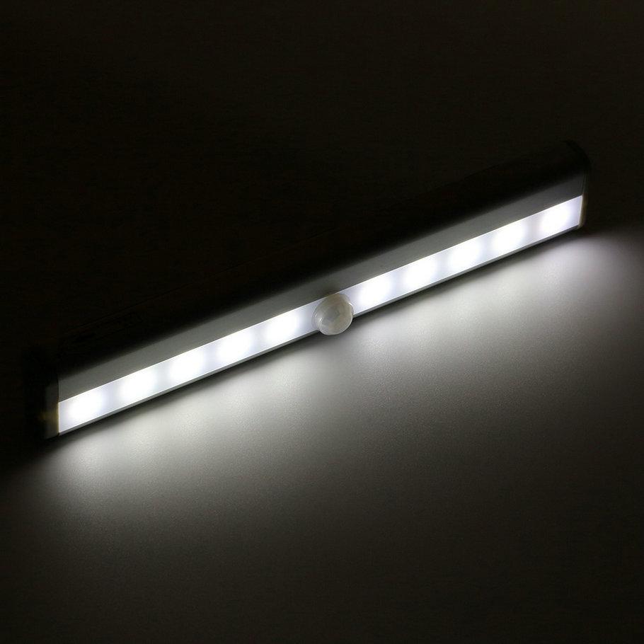 10 LED Wireless PIR Auto Motion Sensor Light Intelligent Portable infrared Induction Lamp Night Lights for Cabinet Hotel Closet(China (Mainland))