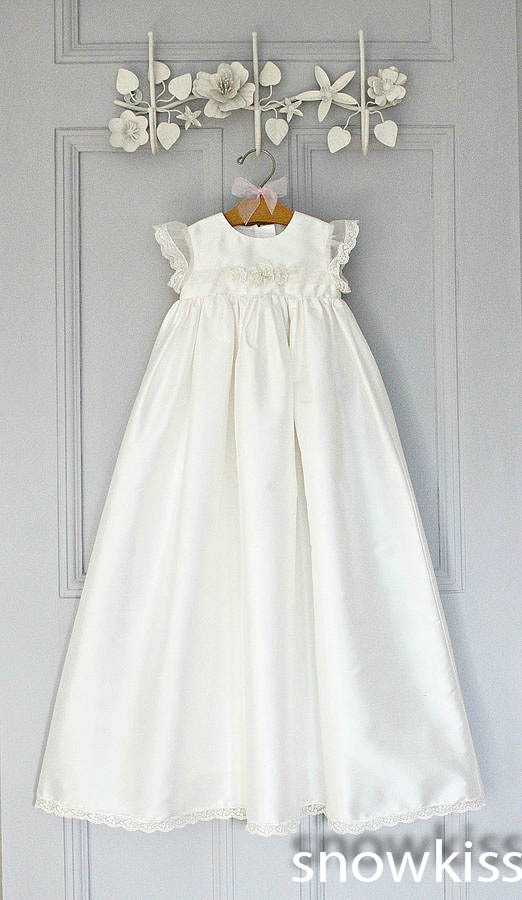 Фотография 2016 Simple Custom made White/Ivory First Communion Dress Blessing Heirloom Christening Gown with Bonnet Baby Girls Baptism Robe