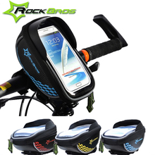 The Rockbros Big Discount Sport Bike Bicycle Bag 5.5'' Phone Case Touchscreen Cycling Bag MTB Handle Bar Mountain Road Bag(China (Mainland))