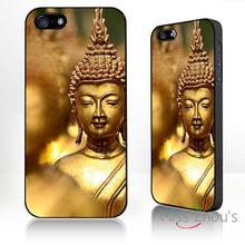 For iphone 4/4s 5/5s 5c SE 6/6s plus ipod touch 4/5/6 back skins mobile cellphone cases cover Gold Buddha bhuddist