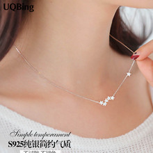 Buy Drop 925 Sterling Silver Chain Necklaces Star Pendants&Necklaces Jewelry Collar Colar de Plata for $4.93 in AliExpress store