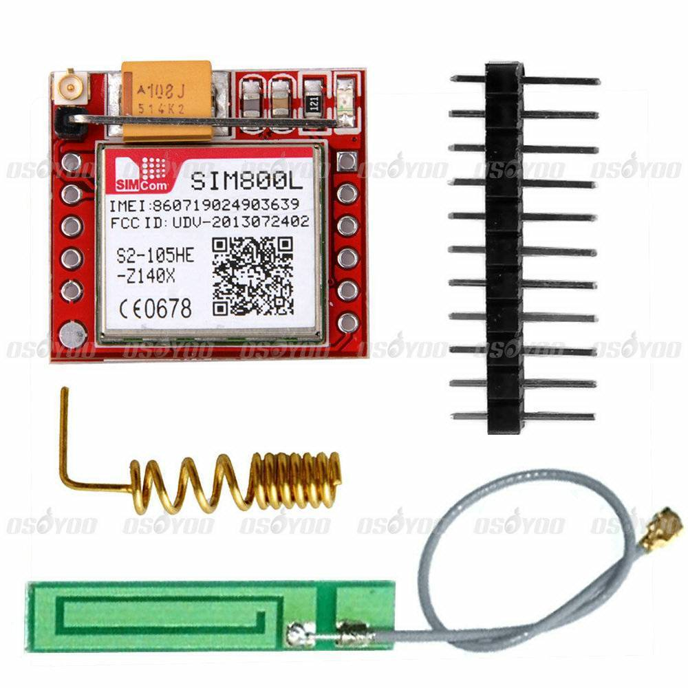 Free Shipping SIM800L Quad-band GPRS GSM Module Micro Sim Card Board + Antenna for Arduino MCU(China (Mainland))