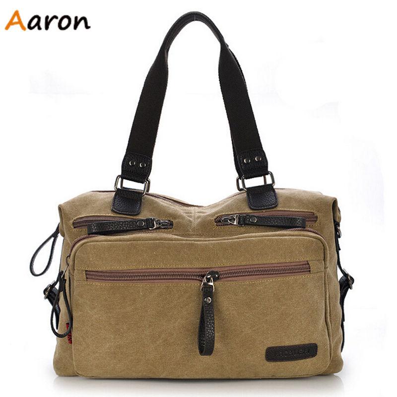 Aaron - Vintage Unisex Canvas Casual Tote,Mens travel Messenger Bag,Durable Casual Outdoor Weekend Bag Handbags,Bolsa De Lona<br><br>Aliexpress