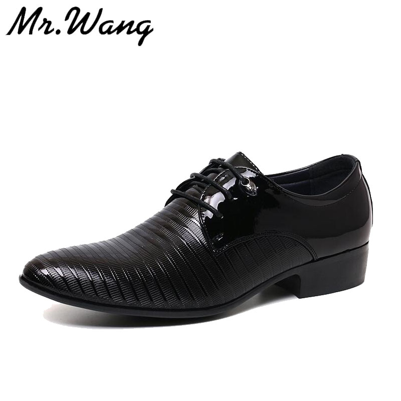 2016 brand new Pointed toe dress shoes for men black Wedding business mens patent leather shoes for men flats Oxfords 38-44 JT08<br><br>Aliexpress