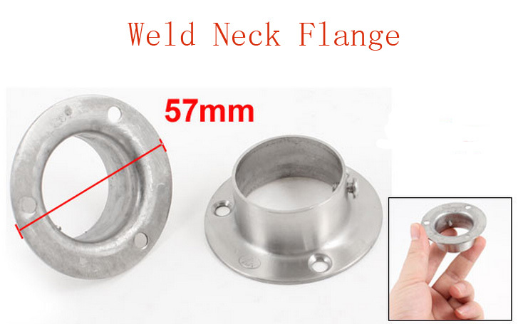 4 Pcs 32mm x 16mm Stainless Steel Weld Neck Flange for Machines Piping(China (Mainland))