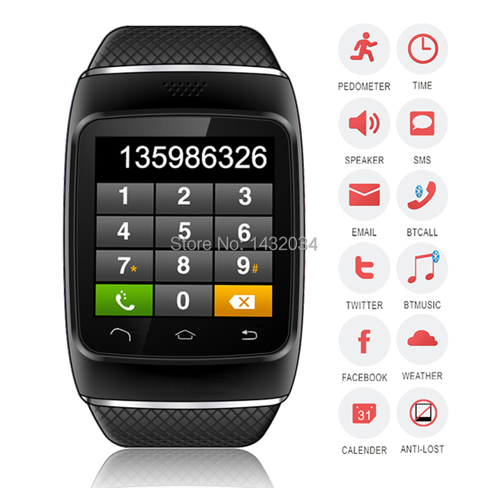 Smart Watch Bluetooth S12 Smartwatch Wrist Wrap Watch Sync Call For iPhone Android Samsung HTC Nokia Phone Mate New 2014 Luxury