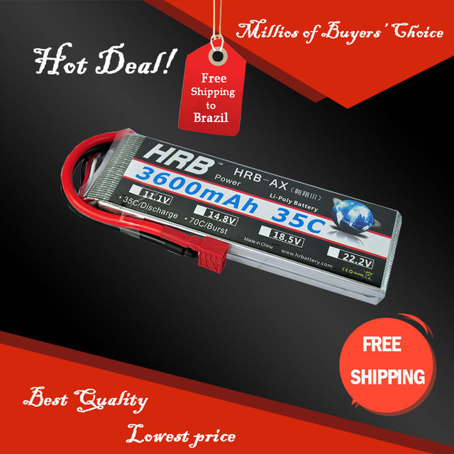 High Rate Discharge Lipo Battery 2S 7.4V 3600mah 35C Max 55C Toys & Hobbies For Helicopters RC Models Li-polymer Battery
