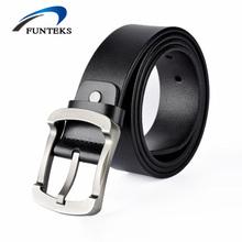 Buy FUNTEKS 2017 New designer Men Belt Male High Cow Genuine Leather Belts Men Fashion Pin Buckle Strap Ceinture Homme for $9.99 in AliExpress store