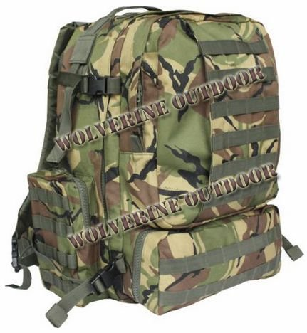 45 L Army Molle Assault Backpack Military Rucksack Pack 82019 (Camo Woodland Bag Backpack)
