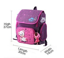 Cartoon Bear Butterfly Printing Kids Satchel Children School Bags Orthopedic Backpacks Durable School Backpacks Mochila Escolar(China (Mainland))