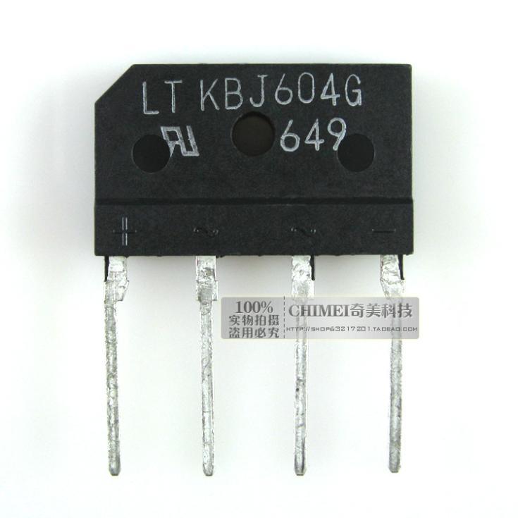 Free Shipping Bridge rectifier bridge KBJ604G 6A 400V row 3C digital electronic components(China (Mainland))