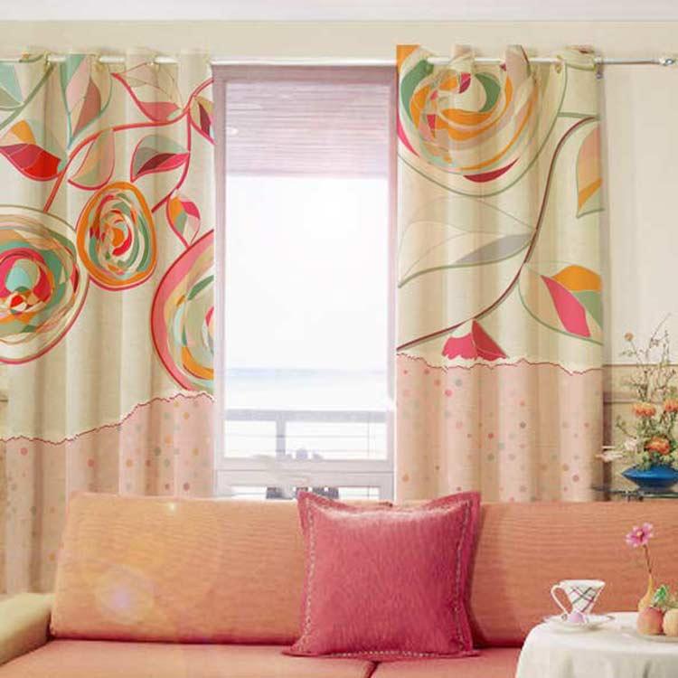Romantic Decoration Luxury Modern Style Blackout Custom Made Window Curtains For Kids Children