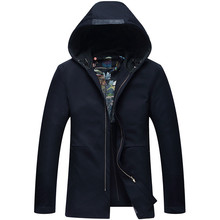 2016 high quality Spring new fashion Young Men's Windbreaker Hooded Casual male Windbreake men pure color trench men thin Coat(China (Mainland))