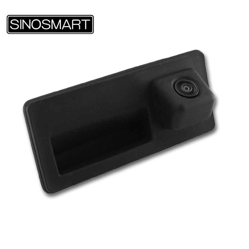 SINOSMART In Stock Super Wide View Car Rearview Reversing Parking Backup Camera for Porsche Cayenne Install in Rear Trunk Handle(Hong Kong)