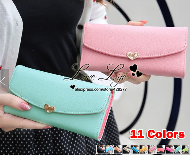 2014 Limited Freeshipping Hasp Solid Leather Women Wallet Long Design Handbags - W014 Love Life's Shop store