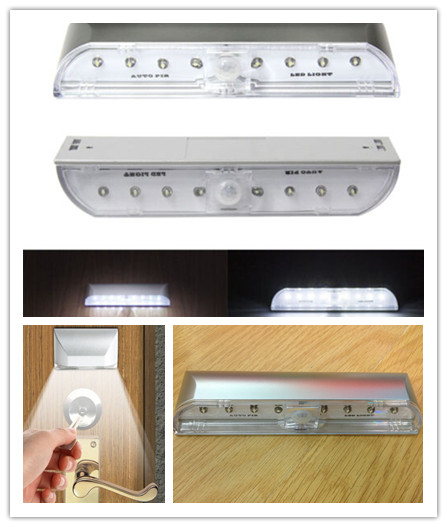 High Quality 8 LED Light Wireless Infrared Auto PIR Sensor Motion Detector Lamp Auto PIR Keyhole LED Light(China (Mainland))