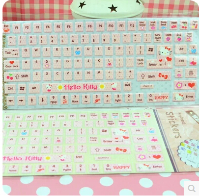 Hello Kitty Keyboard Stickers Hello Kitty Cute Keyboard