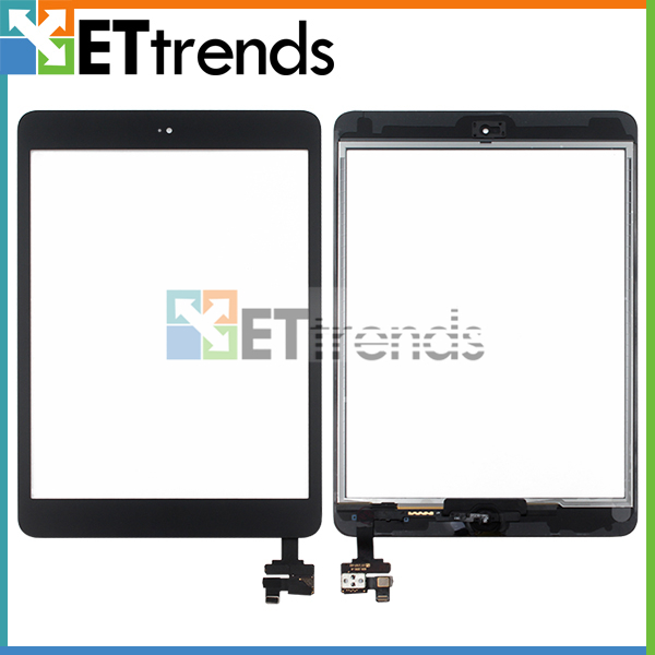 10PCS/LOT Touch Glass Display Screen Digitizer Assembly for iPad mini/mini 2 digitizer glass screen with IC and Home button(China (Mainland))