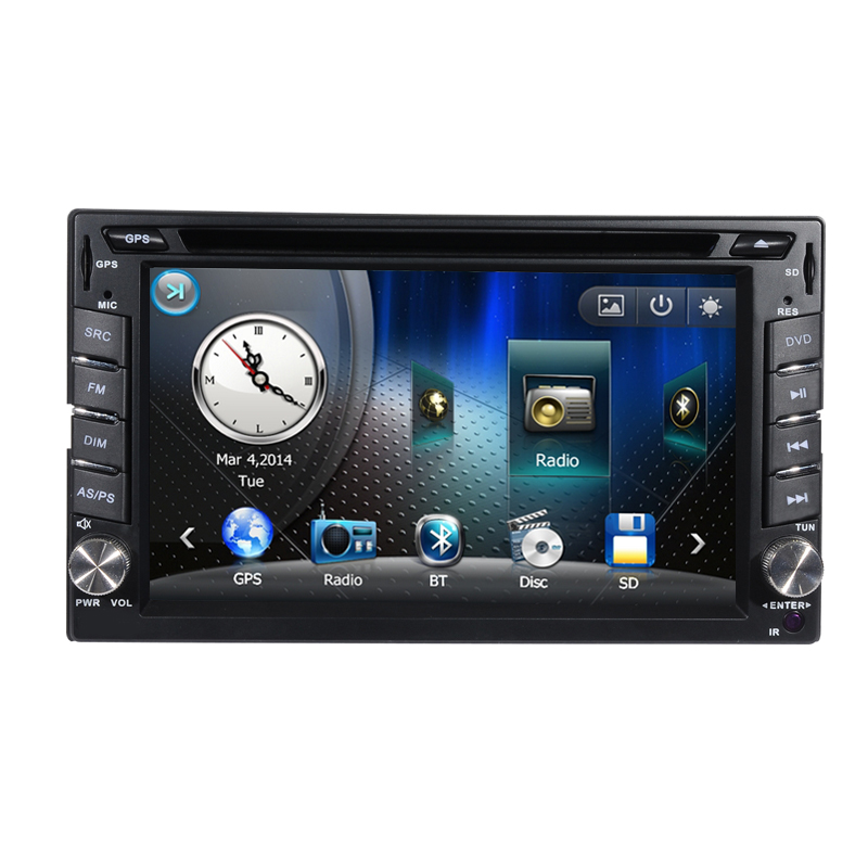 "Factory Manufacturer Price Professional Supplier Universal 6.2"" 2 Din Double din touch screen Car DVD GPS with Bluetooth TV(China (Mainland))"