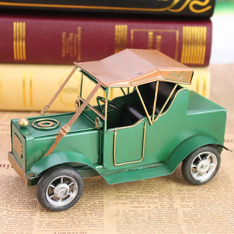 18CM Alloy toy car retro nostalgia vintage car model metal crafts ornaments handmade home decorations free shipping(China (Mainland))