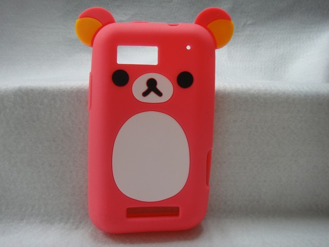 Hotsale Cute Easily bear Phone Case for Motorola DEFY me525 mb525,High Quality Cell Phone Case Silicone