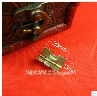 22*13 spring small hinge gift jewelry box luggage hardware accessories spring iron hinges(China (Mainland))
