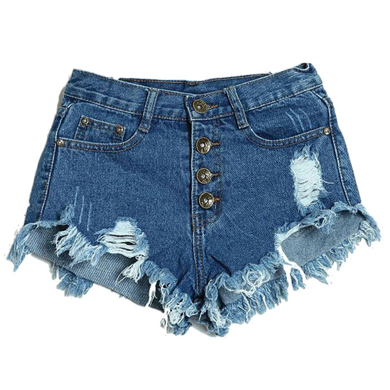 2016 New Arrival Summer Brand New Sexy Women's Lady Fashion Slim Fit Bore Hole Denim Shorts Pants 4 styles FreeShipping(China (Mainland))