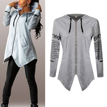 Women HoodiesLletter long-sleeved hooded Harajuku Plus Size Sportswear Coat KL075(China (Mainland))