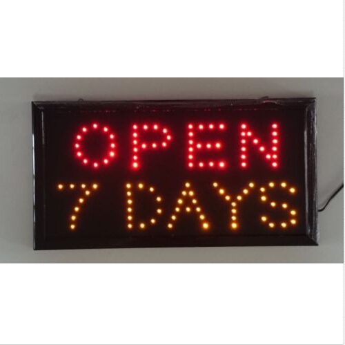 110V Neon Lights LED Open 7 Days Sign Customers Attractive