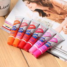 New brand Women Girls New Lip Gloss matte waterproof TATTOO Megic Color Peel Mask Tint Pack