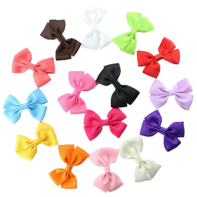 15pcs/PACK Grosgrain Hair Ribbon Boutique Bow Alligator Clips for Baby Girls Toddlers Kids Child Barrettes hair accessory(China (Mainland))