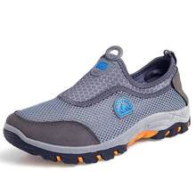 VESONAL 2019 ฤดูร้อน Breathable สบาย Slip - On รองเท้าผ้าใบตาข่ายรองเท้าประตูชายรอง(China)