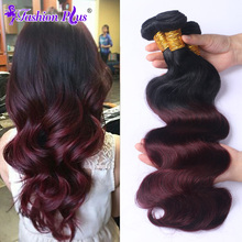 8A Brazilian Virgin Hair Body Wave 4pcs Ombre Hair Extensions Ombre Brazilian Hair Weave Bundles Human Hair Weaves Very Soft(China (Mainland))