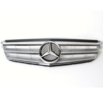 Auto car front grill for 2008-2013 ABS C CLASS W204 SPORT Car Grills for BENZ W204 C250 C300 C350 10 NEW SILVER COLOR