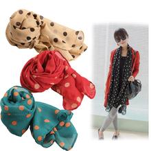 2014 Fall Winter Fashion Women Ladies Polka Dots Spot Chiffon Soft Shawl Scarf Neck Wrap Headscarf 4 Colors PTSP