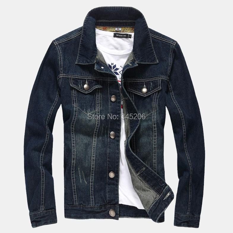 Big size M-5XL famous brand men's outdoors denim jacket spring jeans coat men J141 - Fashion Man Workshop Co. Ltd store