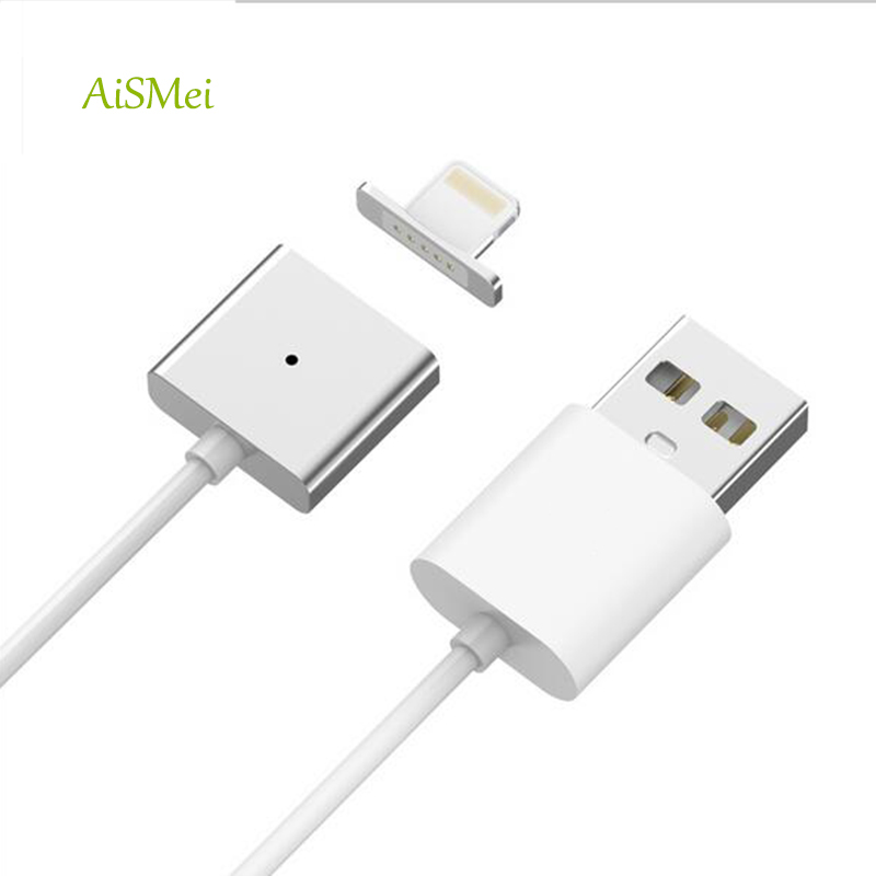 AiSMei 10PCS Original 2.4 A Magnetic USB Charger Cable For iPhone 5 5S 5C 5SE 6 6S Plus iPad 4 5 Air Mini 3 iPod Touch 5 Magnet(China (Mainland))